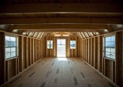 lofted cabin interior | Cardinal Portable Buildings
