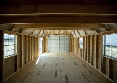 Lofted Garage Interior | Cardinal Portable Buildings