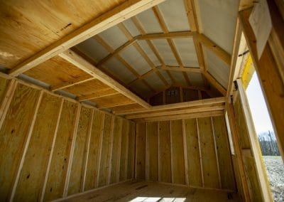Lofted Garden Shed Interior | Cardinal Portable Buildings